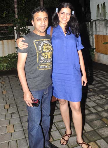 Ram Sampath and Sona Mohapatra at the Delhi Belly success bash in 2011