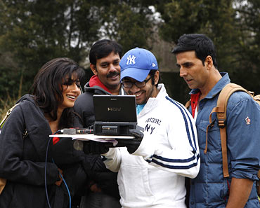 On the sets of Desi Boyz