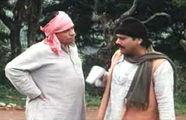 Kader Khan and Govinda
