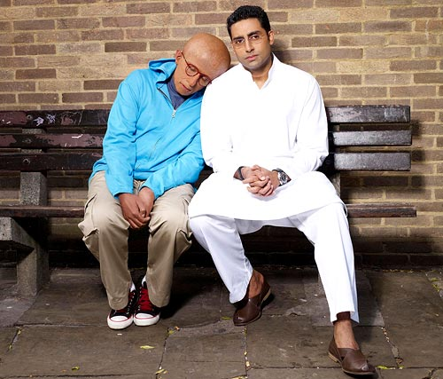 Amitabh Bachchan and Abhishek Bachchan in Paa