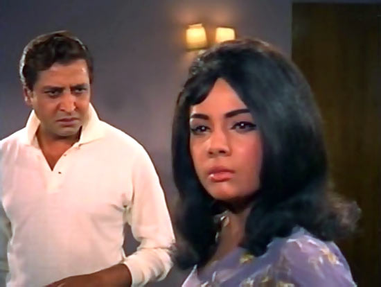 Pran and Mumtaz in Brahmachari