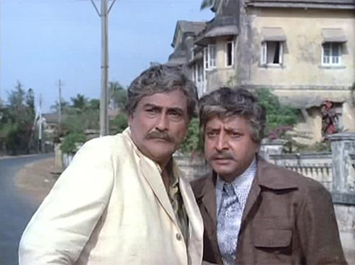 Ashok Kumar and Pran in Victoria No 203