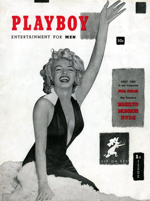 Marilyn Monroe on the cover of Playboy magazine