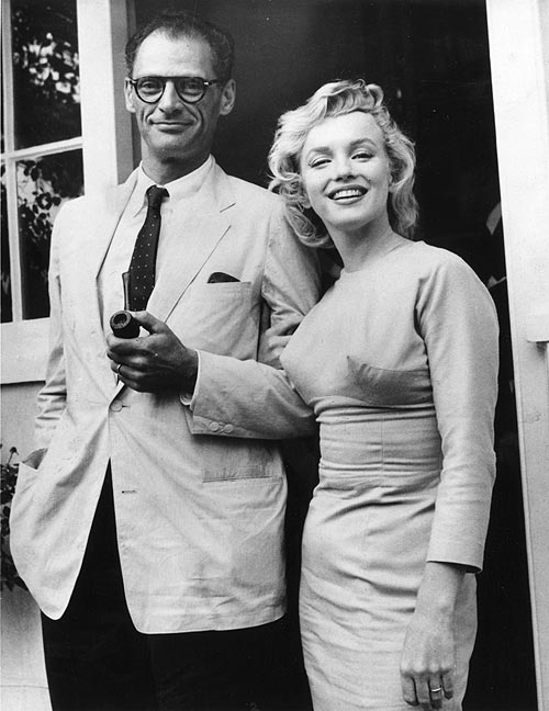 Marilyn Monroe with her husband Arthur Miller