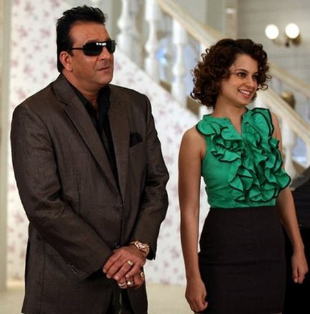 Sanjay Dutt and Kangna Ranaut in Double Dhamaal