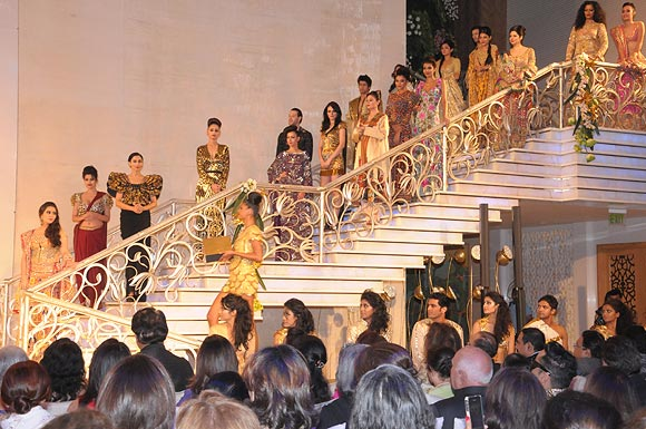 The ramp show featuring Sara Ali Khan (extreme left)