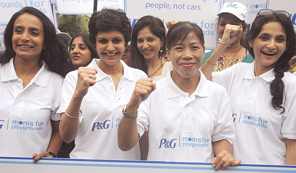 Suchitra Pillai, Mandira Bedi, Mary Kom and Raajeshwari Sachdev