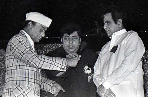 V Shantaram, Amjad Khan and Dilip Kumar