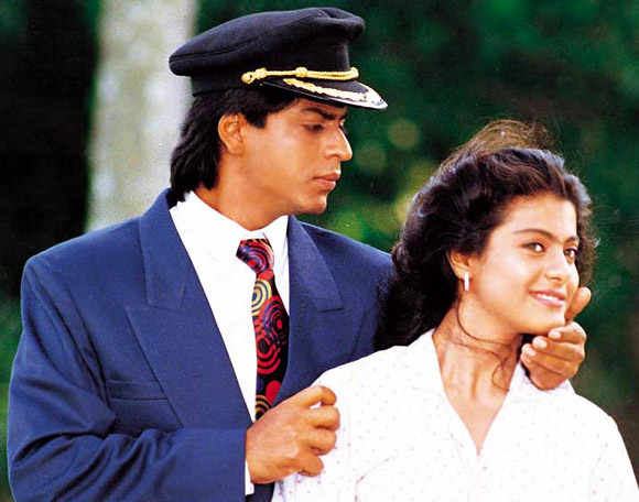 Shah Rukh Khan with Kajol in Baazigar