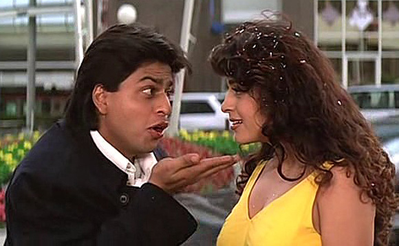 Shah Rukh Khan with Juhi Chawla in Yes Boss