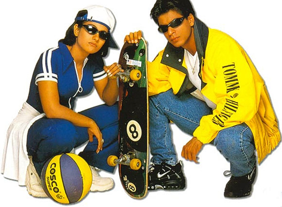 Shah Rukh Khan with Kajol in Kuch Kuch Hota Hai