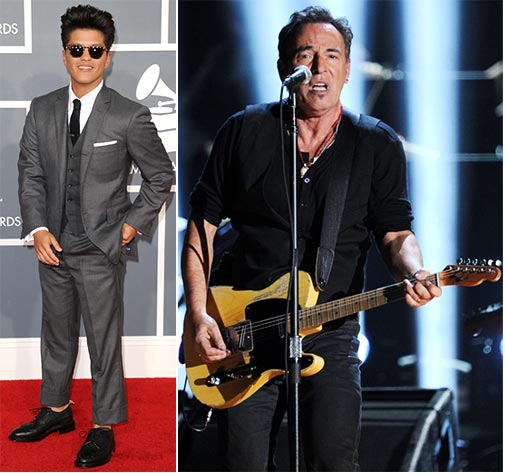 Bruno Mars and Bruce Springsteen