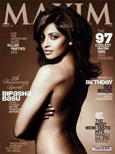 Bipasha Basu on Maxim cover