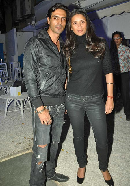 Arjun Rampal and Mehr Jessia