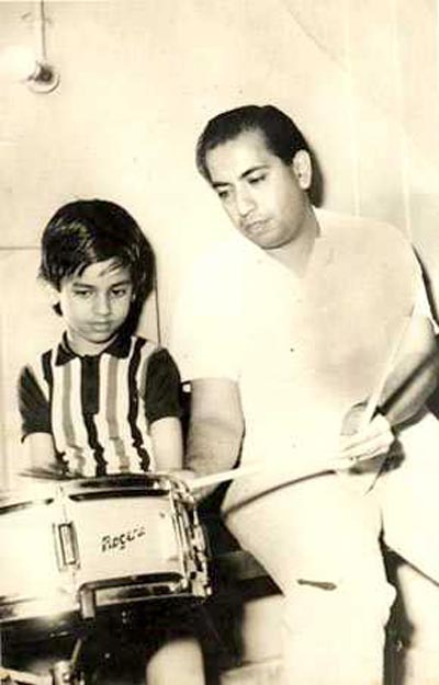 Ruhan Kapoor and his father Mahendra Kapoor