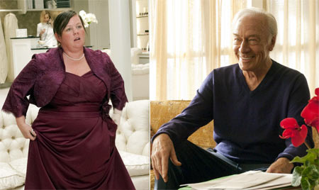 Melissa McCarthy from Bridesmaids and Christopher Plummer from Beginners