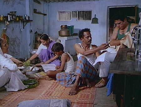 A scene from Dharavi