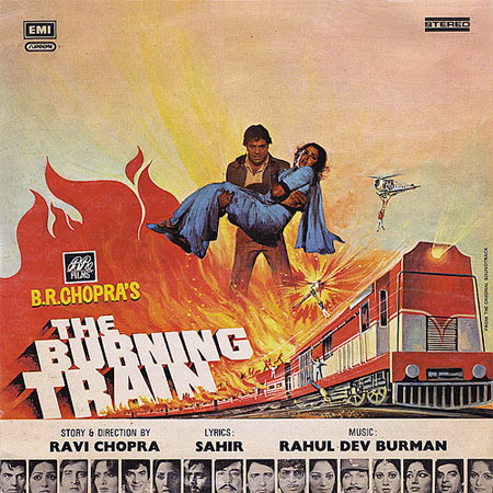 Movie poster of The Burning Train