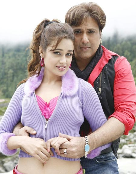 Yuvika Chawdhary and Govinda in Naughty At 40
