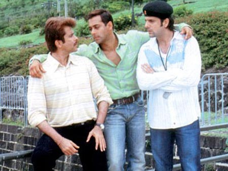 Anil Kapoor, Salman Khan and Fardeen Khan in No Entry