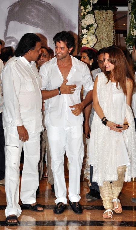 Mithun, Hrithik and Sussanne Roshan