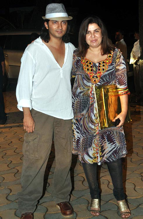 Shirish Kunder and Farah Khan