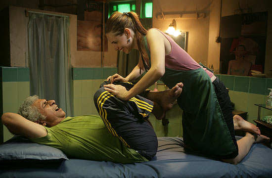 Naseeruddin Shah and Kalki Koechlin in That Girl In Yellow Boots