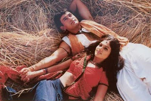 Gracy Singh and Aamir Khan in Lagaan