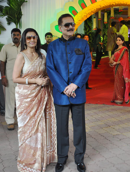 Subroto Roy with wife