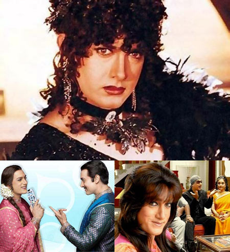 Aamir Khan in (clockwise from the top): Baazi, Coca Cola ad and Tata Sky ad