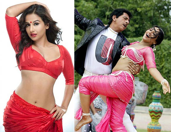 Vidya Balan and Naseeruddin Shah in The Dirty Picture