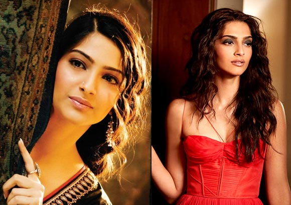 Sonam Kapoor in Sawaariya and Aisha