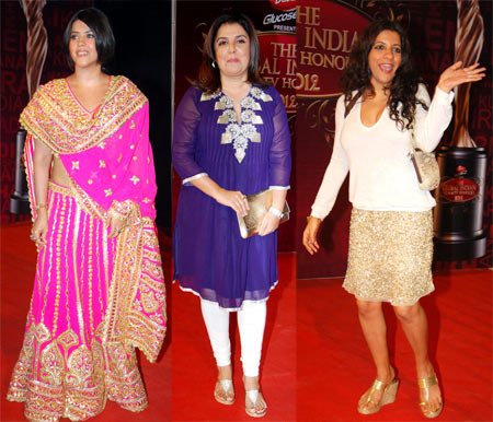 Ekta Kapoor, Farah Khan and Zoya Akhtar