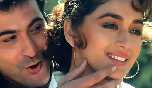 Sanjay Kapoor and Madhuri Dixit in Raja