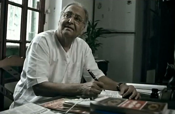 Soumitra Chatterjee in a Thumbs Up ad