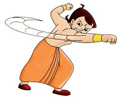 A scene from Chhota  Bheem