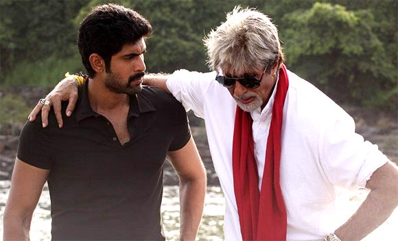 Rana Daggubati and Amitabh Bachchan in Department