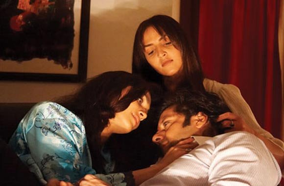 Eesha Koppikar, Esha Deol and Fardeen Khan in Darling
