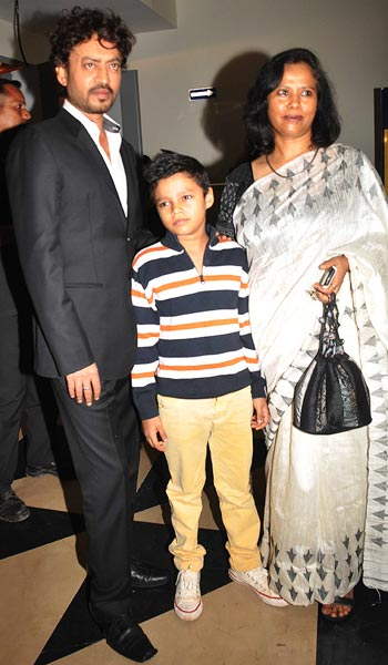 Irrfan Khan with wife Sutapa Sikdar Khan and son Ayan