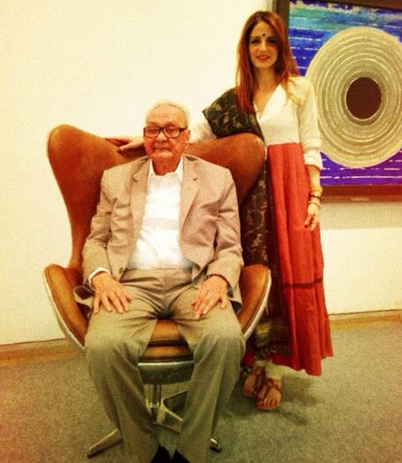 Sussanne Roshan with S H Raza
