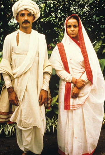 Ben Kingsley, Rohini Hattangady as the young Mohandas and Kasturba