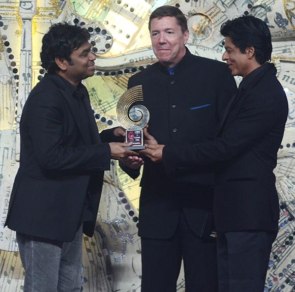 A R Rahman, Lowell Paddock and Shahrukh Khan