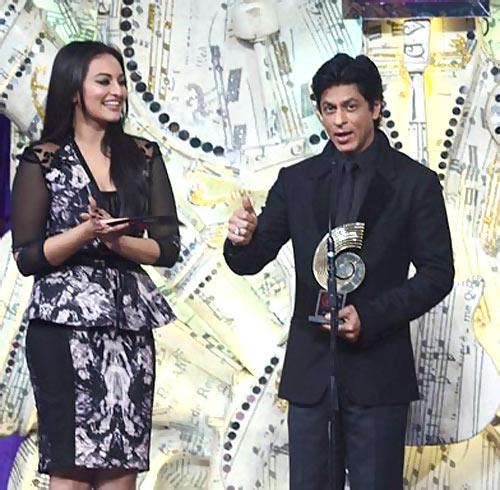 Sonakshi Sinha and Shah Rukh Khan