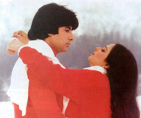 Amitabh Bachchan and Rekha in  Sisila