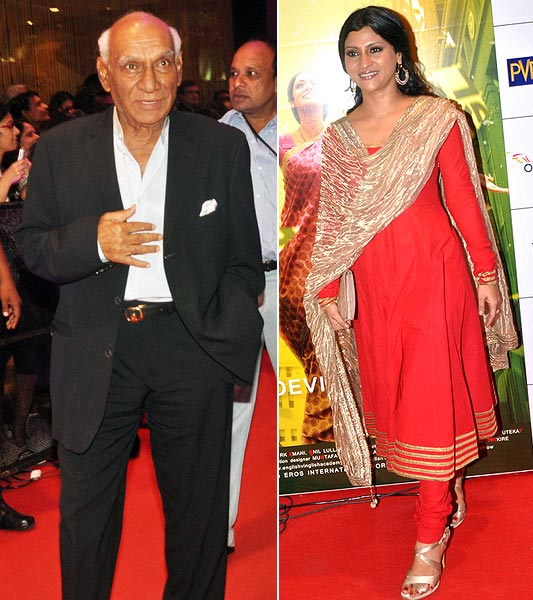 Yash Chopra and Konkona Sen Sharma