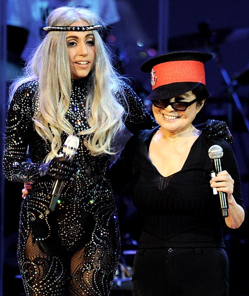 Lady Gaga and Yoko Ono
