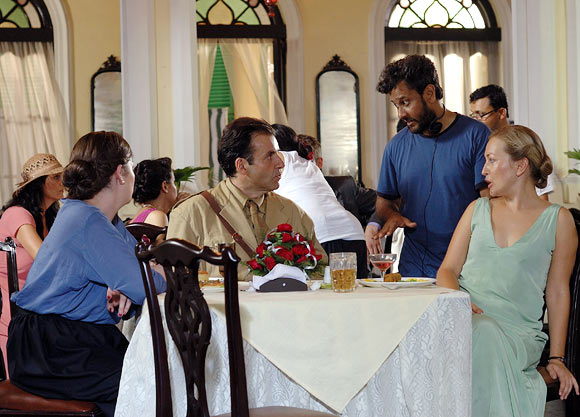 Bedabrata Pain, on the sets of Chittagong