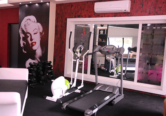 THe gym area in the chalet