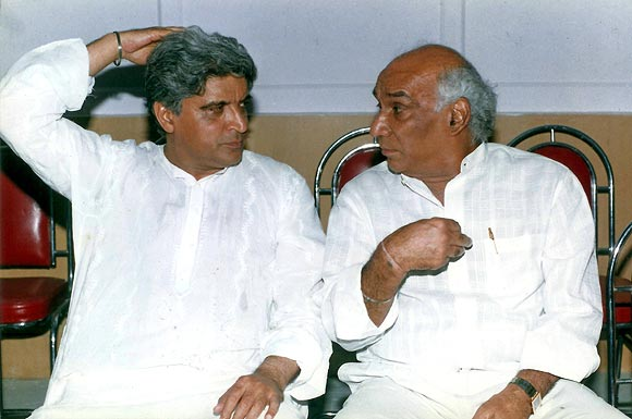 Javed Akhtar and Yash Chopra