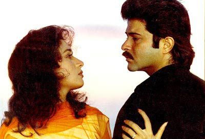 Madhuri Dixit and Anil Kapoor in Parinda
